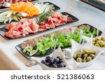 catering banquet table | Shutterstock . vector #521386063