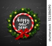 christmas greeting card with... | Shutterstock .eps vector #521386090