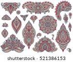 big vector set of colorful... | Shutterstock .eps vector #521386153