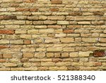 old brick wall filled with... | Shutterstock . vector #521388340