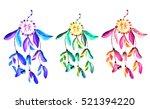 set of colored dream catchers... | Shutterstock . vector #521394220