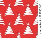 doodle christmas tree. cartoon... | Shutterstock .eps vector #521399548