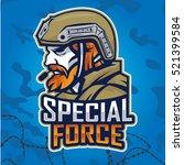 soldier special force vector... | Shutterstock .eps vector #521399584