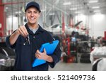 car mechanic. | Shutterstock . vector #521409736