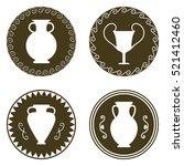 Set Of Four Ancient Logos With...