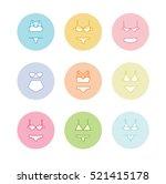 pastel lingerie icons. panties... | Shutterstock .eps vector #521415178