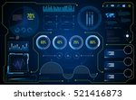 abstract hud ui gui future... | Shutterstock .eps vector #521416873