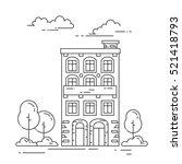 city skyline in line art style  ... | Shutterstock .eps vector #521418793