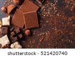 variety of sweet homemade... | Shutterstock . vector #521420740