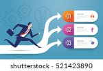 businessman running.... | Shutterstock .eps vector #521423890