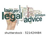 Small photo of Legal advice word cloud concept