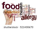 food allergy word cloud | Shutterstock . vector #521430670