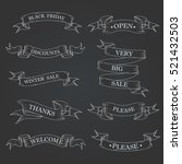 black ribbon banners set.  | Shutterstock .eps vector #521432503