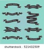 black ribbon banners set.   Shutterstock .eps vector #521432509