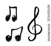 a set of music notes icon.... | Shutterstock .eps vector #521433109