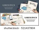 stock illustration. men sing... | Shutterstock .eps vector #521437804