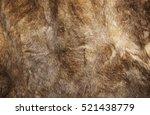 natural fur texture closeup. | Shutterstock . vector #521438779