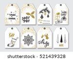 christmas gift tags set. | Shutterstock .eps vector #521439328