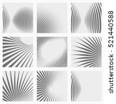 set of striped abstract forms.... | Shutterstock .eps vector #521440588