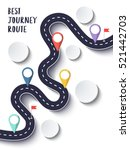 the best journey route.... | Shutterstock . vector #521442703