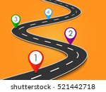 road way location infographic... | Shutterstock . vector #521442718