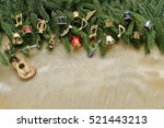 musical christmas background ...   Shutterstock . vector #521443213