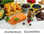 healthy food for brain and good ...   Shutterstock . vector #521445904