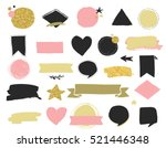 fashion patch badges and... | Shutterstock .eps vector #521446348