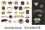 fashion patch badges and... | Shutterstock .eps vector #521446378