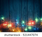 christmas rustic background  ... | Shutterstock . vector #521447074