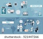 artificial intelligence... | Shutterstock .eps vector #521447266