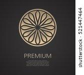golden flower shape. gradient... | Shutterstock .eps vector #521447464