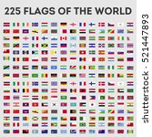 flags of the world vector... | Shutterstock .eps vector #521447893