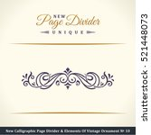 new calligraphic page divider...   Shutterstock .eps vector #521448073
