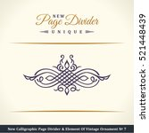 new calligraphic page divider... | Shutterstock .eps vector #521448439