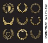 silhouette laurel wreaths in... | Shutterstock .eps vector #521448550