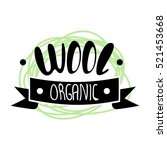 wool labels  stickers and logos.... | Shutterstock .eps vector #521453668