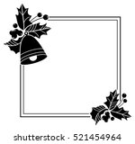 square frame with christmas... | Shutterstock .eps vector #521454964