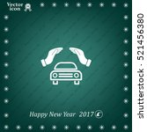 car insurance web icon. vector... | Shutterstock .eps vector #521456380