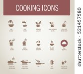 cooking icons | Shutterstock .eps vector #521457580