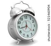 alarm clock on white surface.... | Shutterstock . vector #521460904