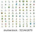 set of 100 web internet... | Shutterstock .eps vector #521461870