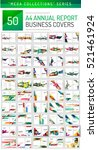 mega collection of 100 business ... | Shutterstock .eps vector #521461924