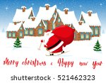 merry christmas and happy new...   Shutterstock .eps vector #521462323