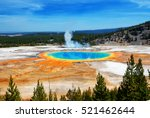 famous trail of grand prismatic ... | Shutterstock . vector #521462644