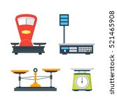 flat store weigher. collection... | Shutterstock .eps vector #521465908