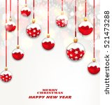 illustration christmas red... | Shutterstock .eps vector #521473288