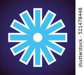 vector. snowflake icon  logo... | Shutterstock .eps vector #521478448