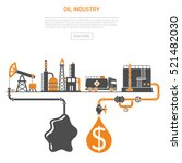 oil industry concept with two... | Shutterstock .eps vector #521482030