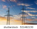 electricity pylons and lines at ...